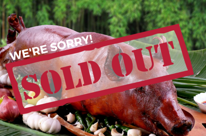 Ricos Lechon is Sold Out